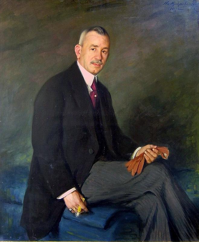 Портрет на Д. Г. Кудоглу от 1917 г., художник Никола Михайлов, фонд Градска художествена Галерия Пловдив